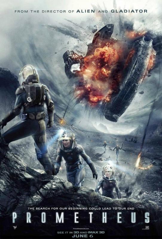 Prometheus: una nuova locandina che mostra gli eroi del film in azione
