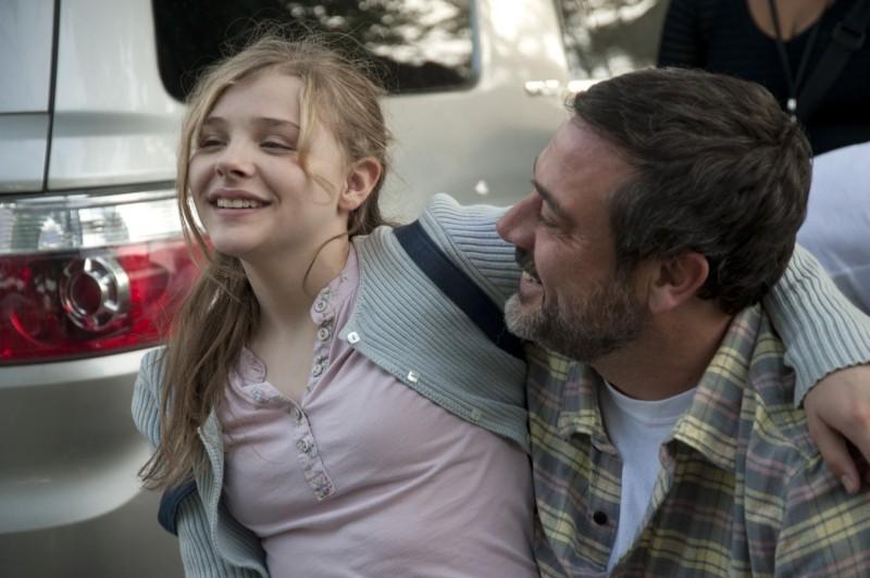 Le paludi della morte: Chloe Moretz con Jeffrey Dean Morgan sul set del film