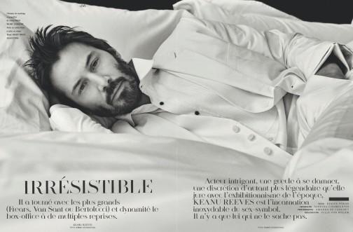 Keanu Reeves 'irresistible' su Vogue Hommes