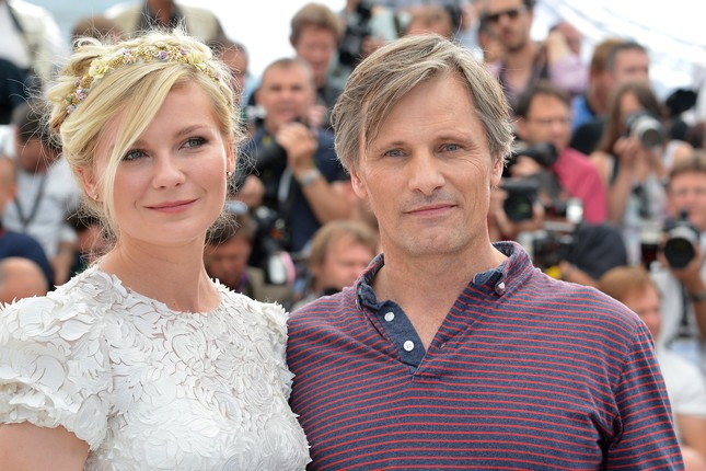 Kirsten Dunst e Viggo Mortensen, interpreti di On the Road, a Cannes