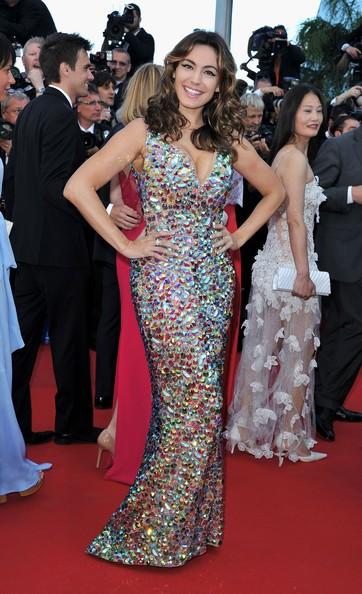 Kelly Brook sul tappeto rosso di Cannes 2012, prima della premiere di Killing Them Softly