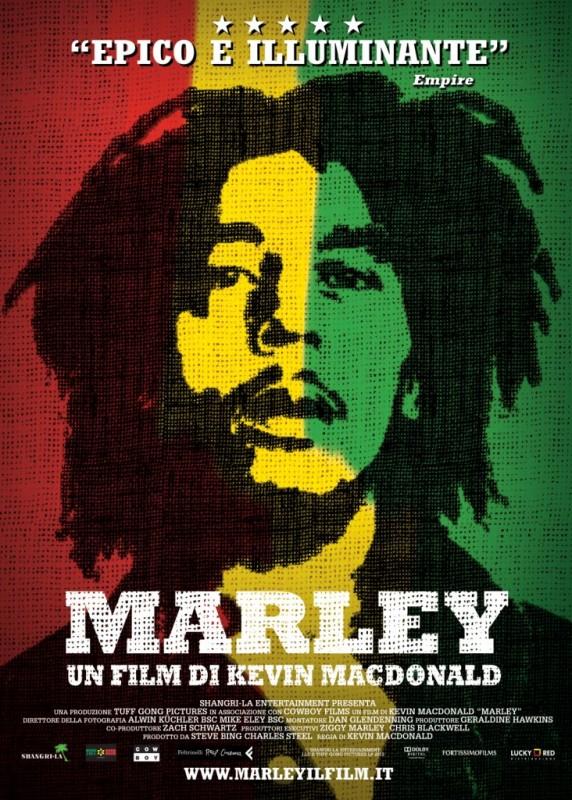 Marley: la locandina italiana dell'epico documentario sulla vita di Bob Marley