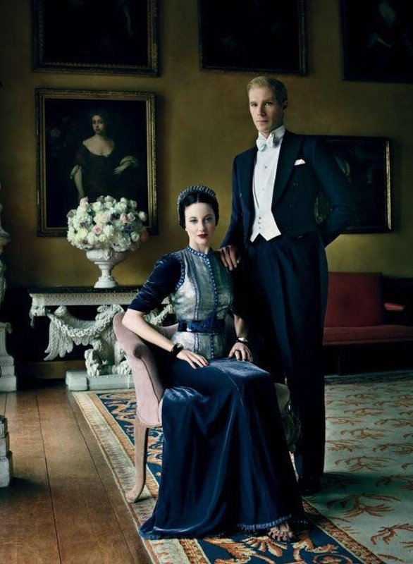 Edward e Wallis: i protagonisti del film James D'Arcy e Andrea Riseborough in una foto promozionale