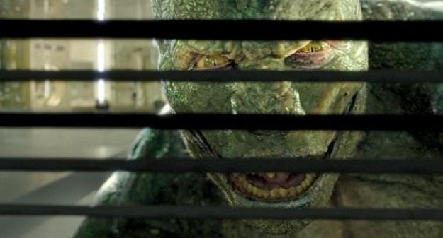 Un inquietante primo piano di The Lizard in The Amazing Spider-Man