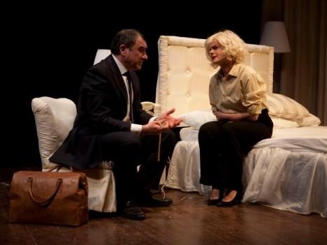 Agnese Nano interpreta la Monroe a teatro (2012) in 'Marilyn: gli ultimi tre giorni' di E.Villaggio