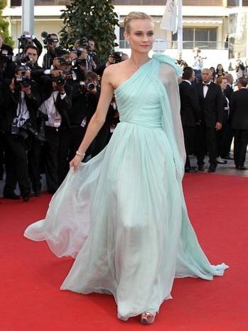 Cannes 2012: Diane Kruger in verde