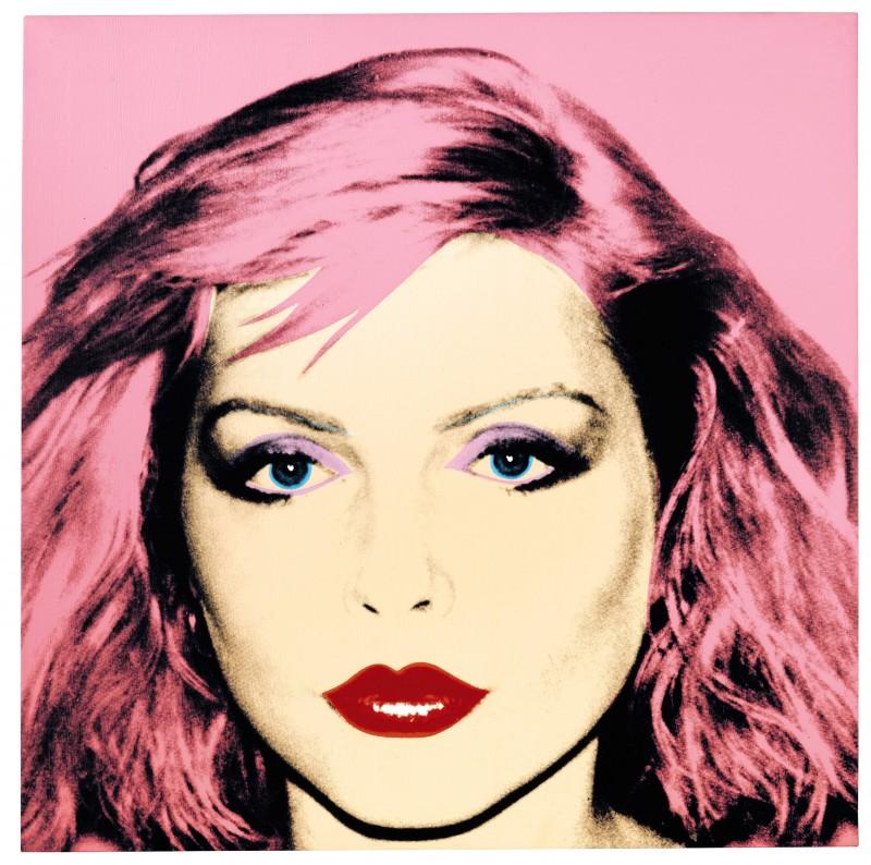Debbie Harry in un'opera di Andy Warhol