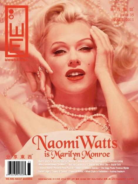 Naomi Watts è Marilyn in una cover dedicata al film 'Blonde'