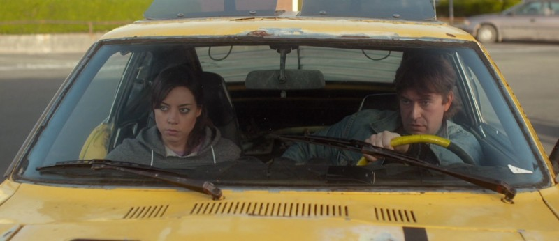 Aubrey Plaza e Mark Duplass in Safety Not Guaranteed