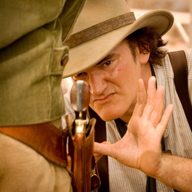 Quentin Tarantino costruisce l'inquadratura sul set di Django Unchained