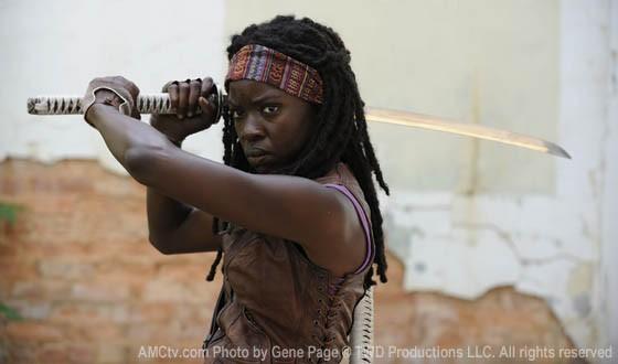 The Walking Dead: Danai Gurria in una prima foto nei panni di Michonne