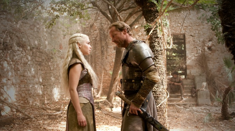 Game of Thrones: Emilia Clarke ed Iain Glen nell'episodio The Prince of Winterfell