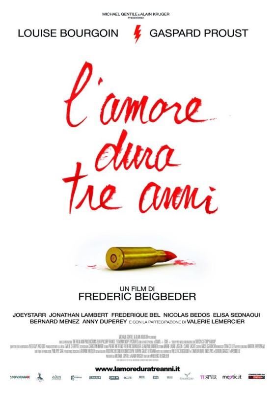 L'amore dura tre anni: la locandina italiana del film