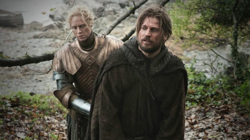 Game of Thrones: Gwendoline Christie e Nikolaj Coster-Waldau nell'episodio Valar Morghulis