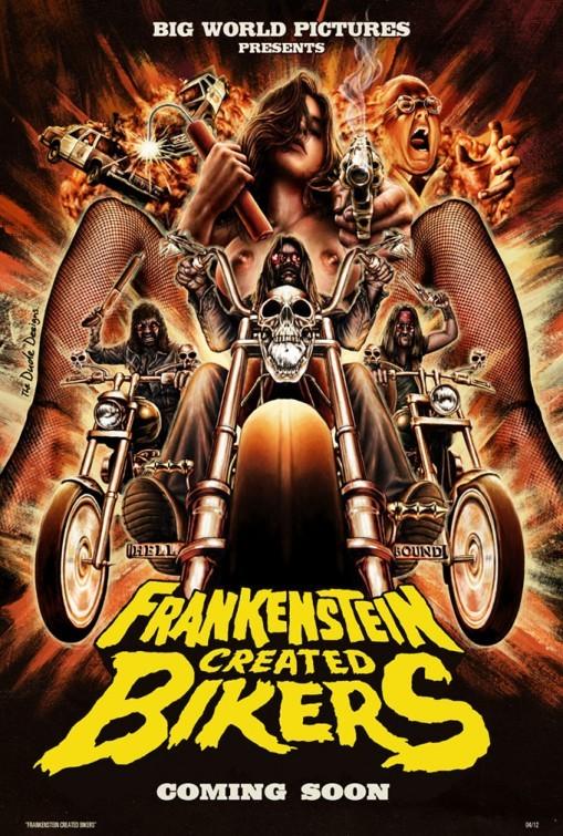 Frankenstein Created Bikers: la locandina del film