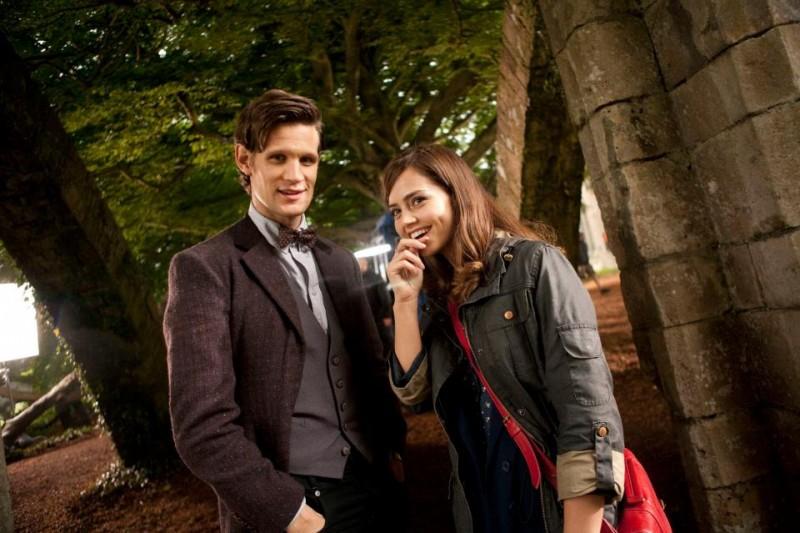 Doctor Who: Matt Smith e Jenna-Louise Coleman sul set della stagione 7