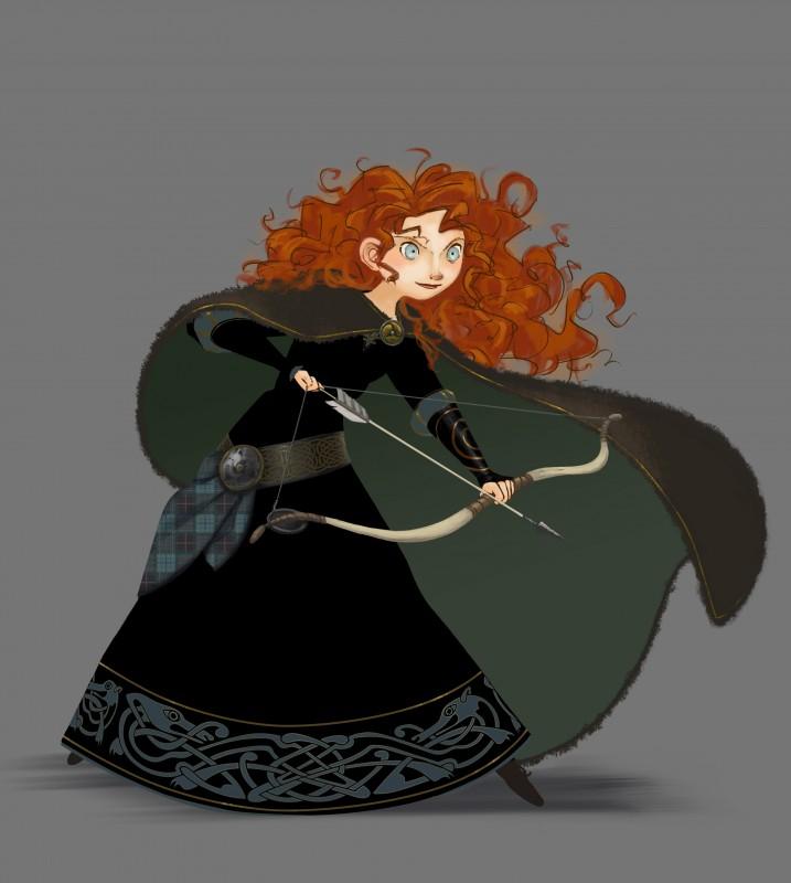 Ribelle - The Brave: Concept Art di un abito di Merida