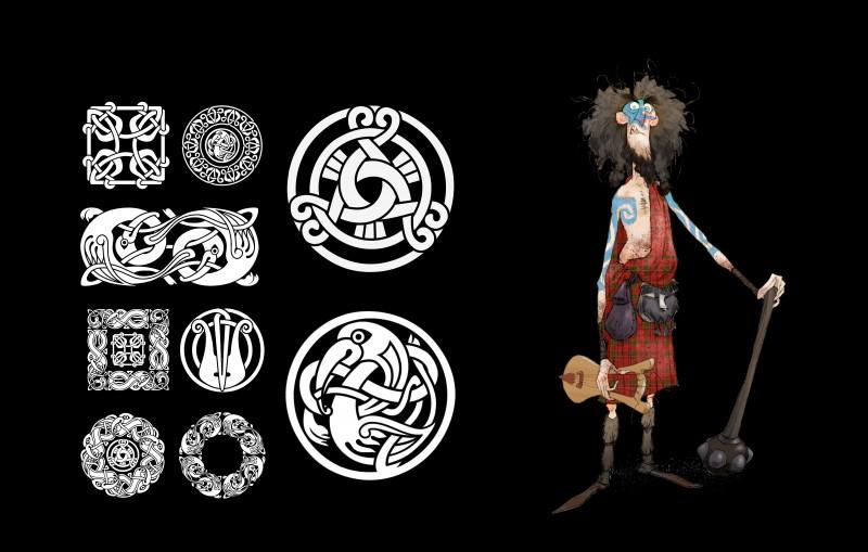 Ribelle - The Brave: un Concept Art del personaggio di Lord Macintosh