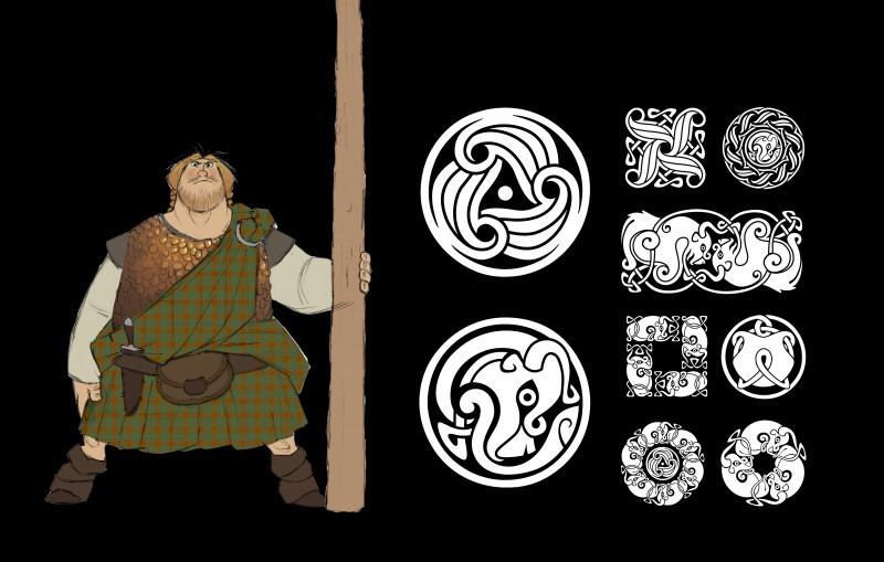 Ribelle - The Brave: un Concept Art del personaggio di MacGuffin