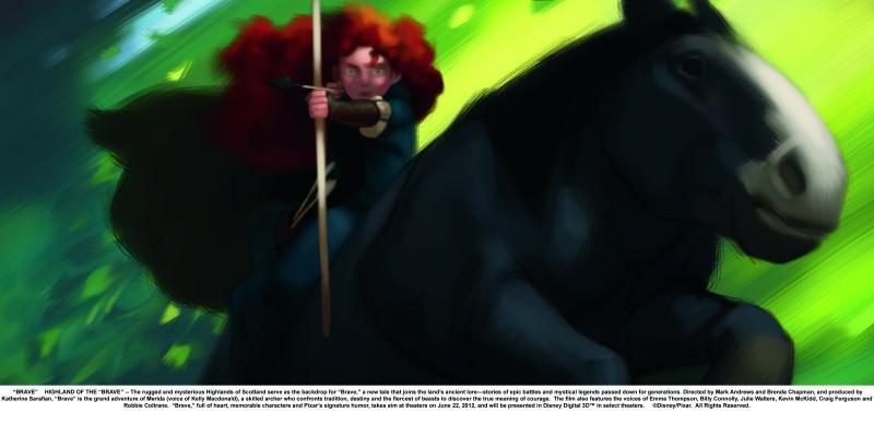 Ribelle - The Brave: un Concept Art per il personaggio di Merida