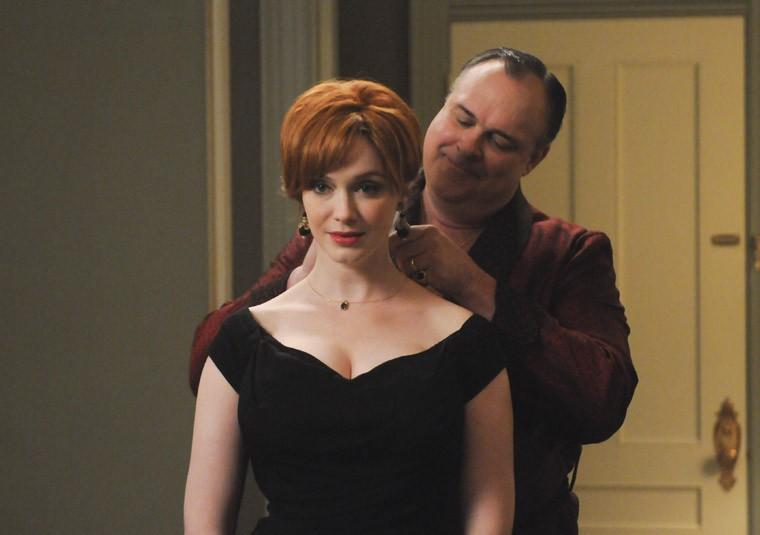Christina Hendricks e Gary Basaraba nell'episodio The Other Woman della quinta stagione di Mad Men