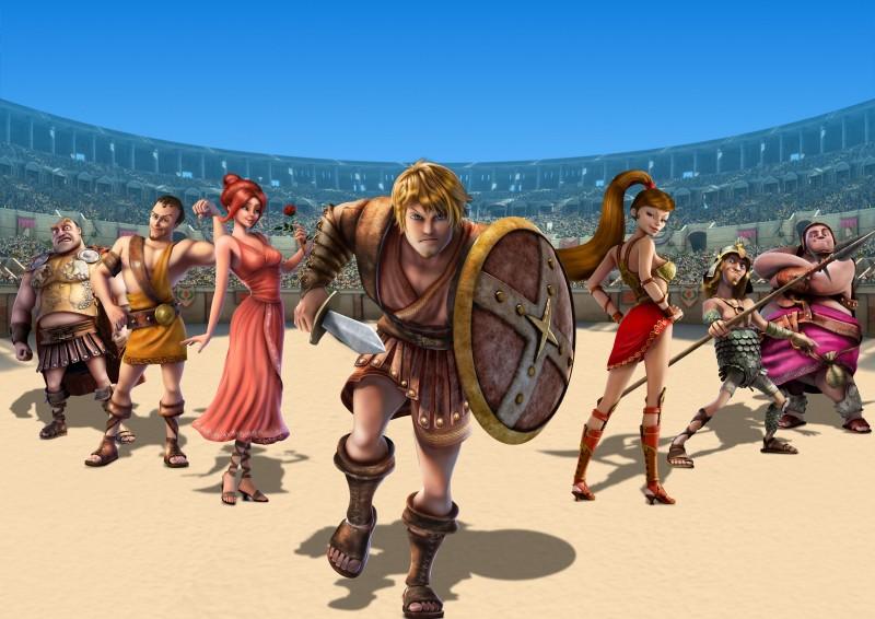 Gladiatori di Roma: un'immagine tratta dal film d'animazione