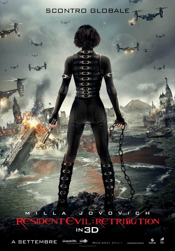 Resident Evil: Retribution, il nuovo poster italiano