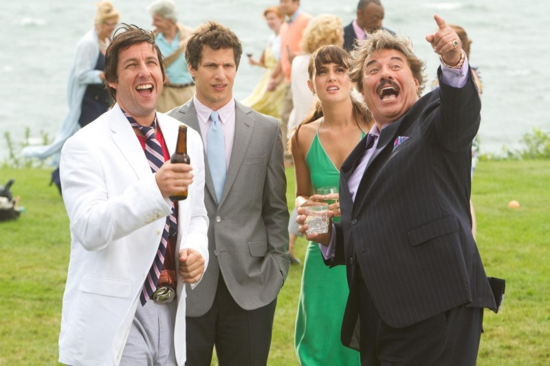 That's my Boy: Adam Sandler, Andy Samberg, Leighton Meester e Tony Orlando in una scena