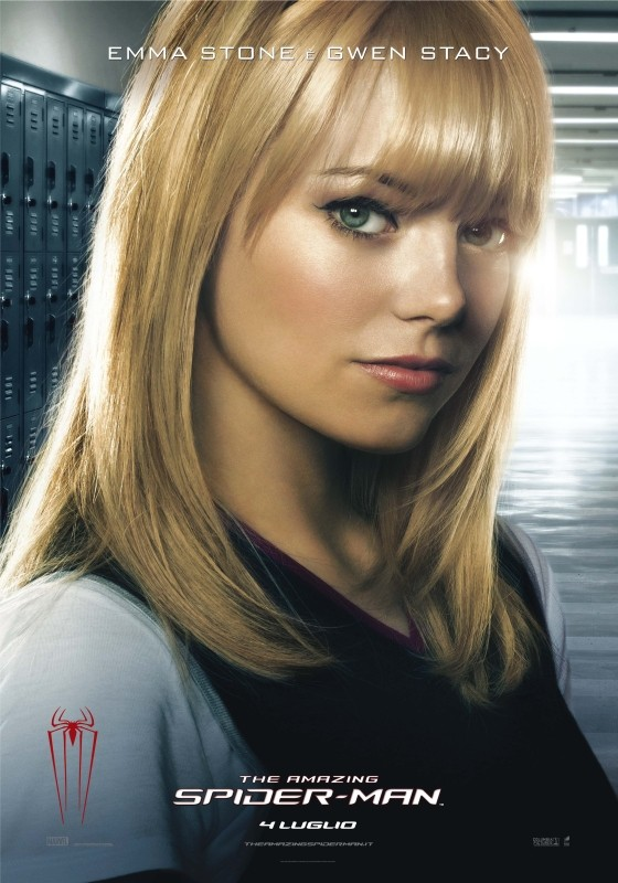 The Amazing Spider-Man: il character poster di Gwen Stacy (Emma Stone), primo amore di Peter Parker