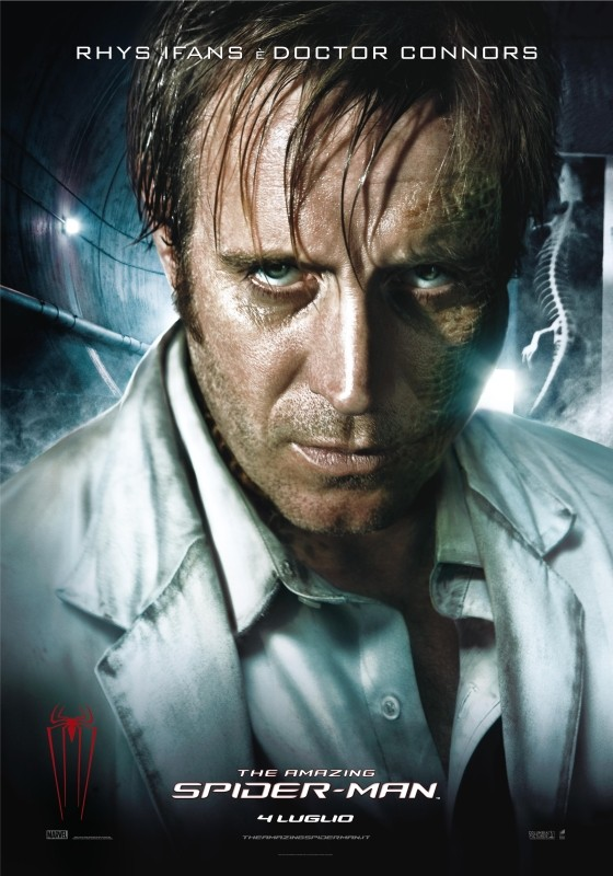 The Amazing Spider-Man: il character poster di Lizard, alter-ego del Dr. Connors (Rhys Ifans)