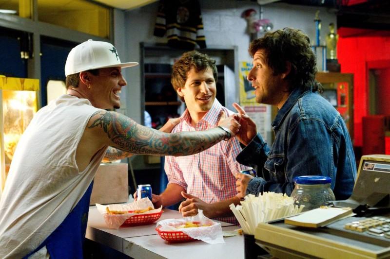 Vanilla Ice, Andy Samberg e Adam Sandler in That's My Boy in una scena di That's my Boy