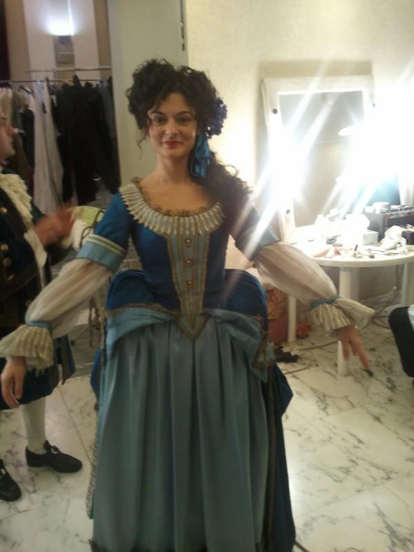 Viviana Dragani sul set della fiction di RAI 1 Violetta
