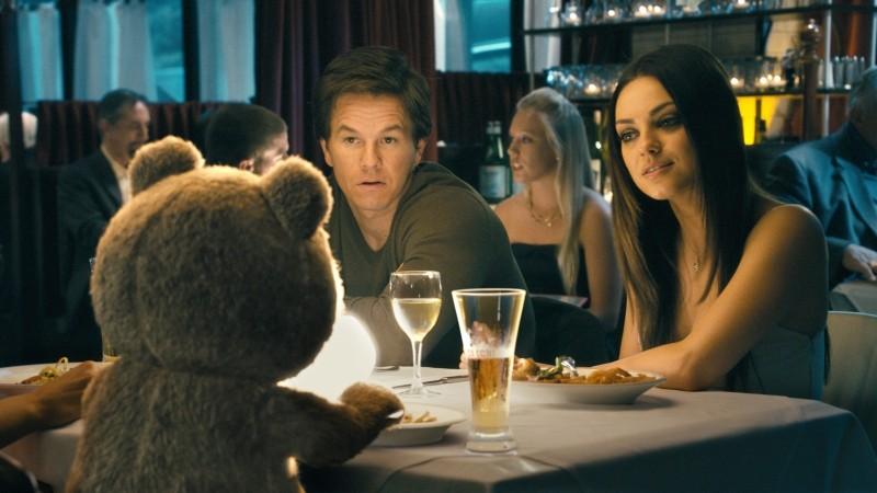 Ted: Mark Wahlberg e Mila Kunis a cena con il loro amico di pelouche