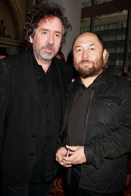 La leggenda del cacciatore di vampiri: Timur Bekmambetov insieme a Tim Burton (produttore) a New York City per la premiere mondiale