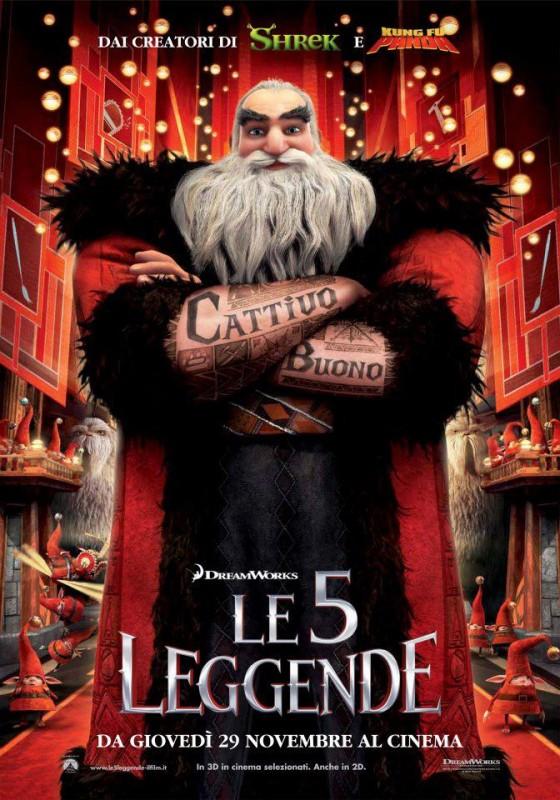 Le 5 leggende: il character poster italiano di Nord, meglio conosciuto come Babbo Natale