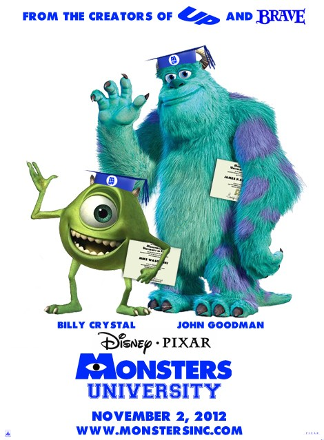 Monsters University: uno dei poster del nuovo mostruoso film Disney-Pixar