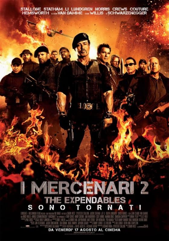 I mercenari 2: la locandina italiana del film