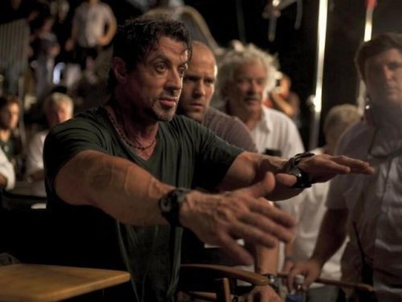 I mercenari 2: Sylvester Stallone e Jason Statham sul set
