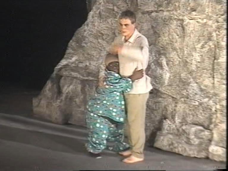 Taormina-Taoarte/Teatro Greco/ ANTONIO ORFANO' con DESIRE' BASTAREAUD  in una scena di Upupa My Dream is My Rebel King regia di ANTONIO ORFANO'