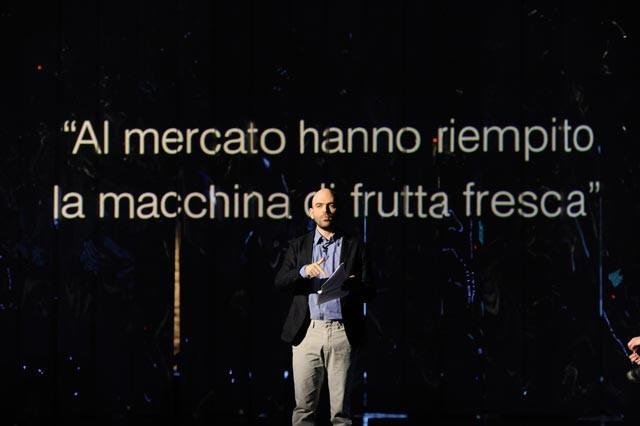 Roberto Saviano durante una puntata di Quello che (non) ho
