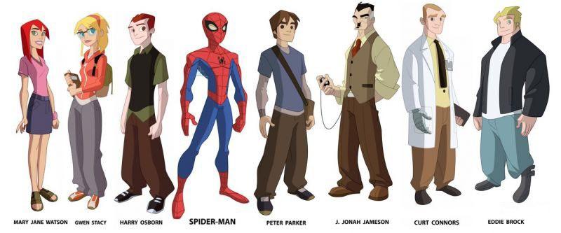 The Spectacular Spider-Man: il character design dei personaggi