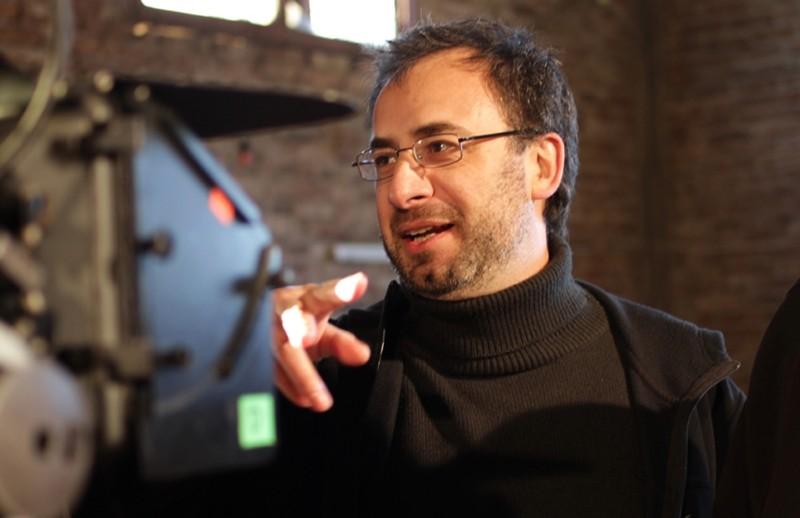 El Campo: il regista del film Hernán Belón sul set