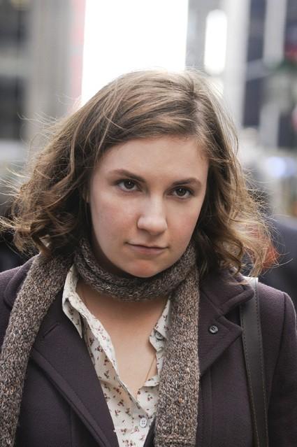Girls: Lena Dunham in una scena della serie HBO