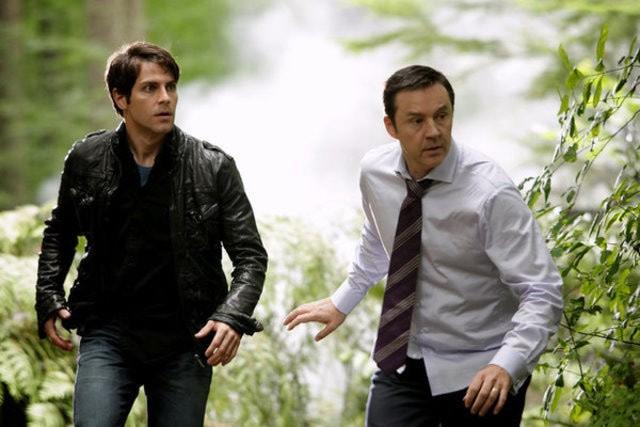 Grimm: Currie Graham e David Giuntoli nell'episodio Bears Will Be Bears