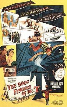 Le 5.000 dita del Dr. T: la locandina del film
