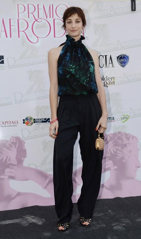 Francesca Inaudi al premio Afrodite 2012, con un abito di GUCCI Collezione Autunno-Inverno 2012-13 - l'attrice è stata premiata per Il richiamo