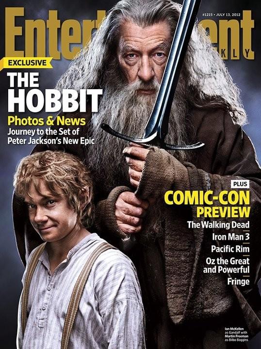 Gandalf (Ian McKellen) e Bilbo (Martin Freeman) nella copertina di Entertainment Weekly dedicata a Lo Hobbit - Un viaggio inaspettato