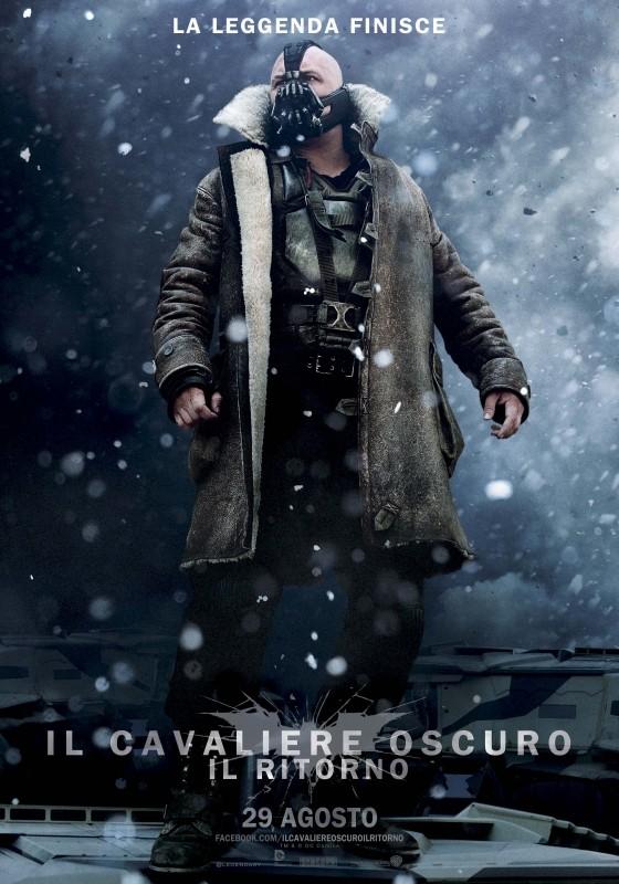 Il cavaliere oscuro - Il ritorno: Character Poster italiano per Bane (Tom Hardy)