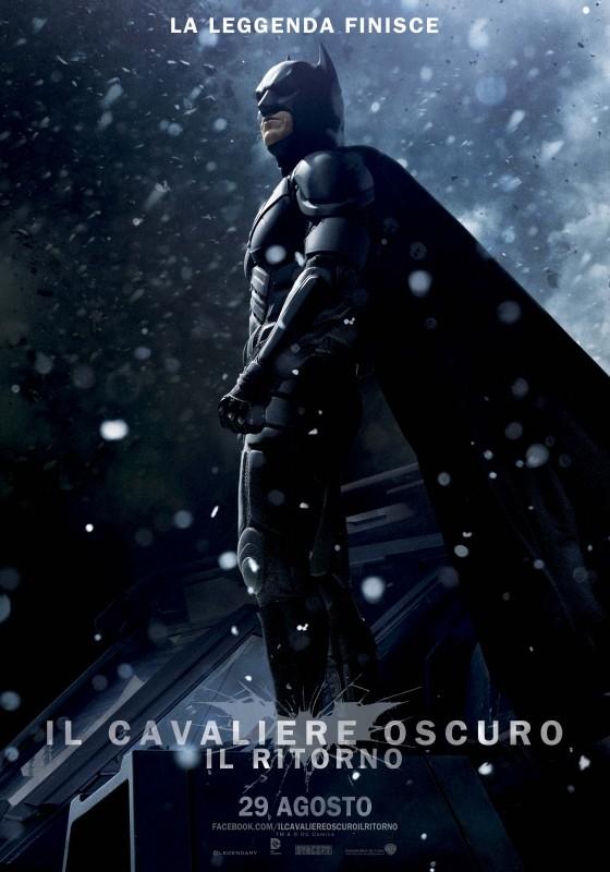 Il cavaliere oscuro - Il ritorno: il character poster italiano per Batman