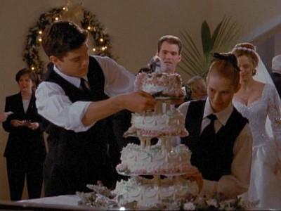 Joshua Jackson e Meredith Monroe nell'episodio Il nostro futuro, della serie Dawson's Creek